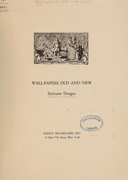 Cover of: Wall-papers old and new by