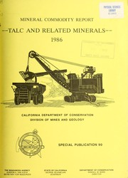Mineral commodity report, talc and related minerals by Daniel M. Howard
