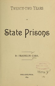 Twenty-two years in state prisons PDF