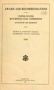 Award and recommendations of the United States Bituminous coal commission PDF
