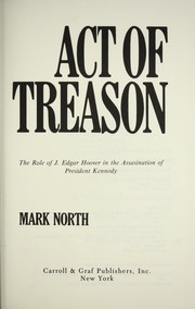 Act of treason by Mark North