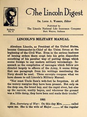 Lincoln's military manual by Abraham Lincoln