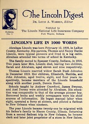 Lincoln's life in 1000 words by Louis Austin Warren