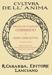 "Cover of: Commento Al ""Don Chisciotte"" by Miguel de Unamuno"