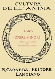 Cover of: Opere Minori by