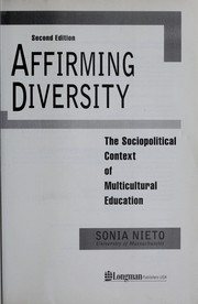 Cover of: Affirming diversity by Sonia Nieto