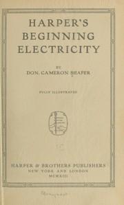Harper's beginning electricity PDF
