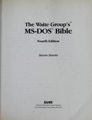 The Waite Group's MS-DOS bible PDF