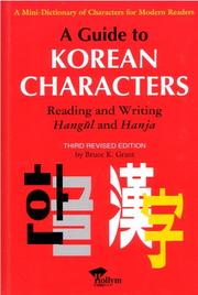 A guide to Korean characters by Bruce K. Grant