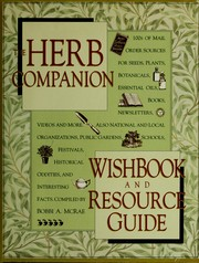 The herb companion wishbook and resource guide by Bobbi A. McRae