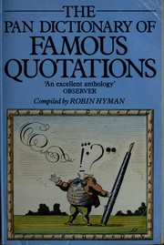 Modern dictionary of quotations by Robin Hyman