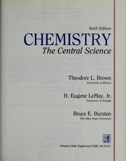 Chemistry by Theodore L. Brown, Theodore L. Brown