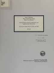 Miles Community College Miles City, Montana, general purpose financial statements and supplementary information fiscal years ended June 30, 2001 and 2002 PDF