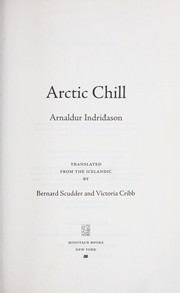 Arctic chill by Arnaldur Indriason