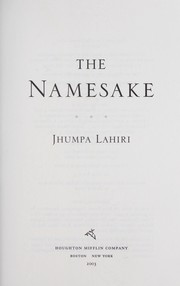 Cover of: The namesake by Jhumpa Lahiri