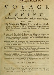A voyage into the Levant by Joseph Pitton de Tournefort