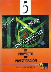 Cover of: El Proyecto de Investigacin by Mario Tamayo y Tamayo