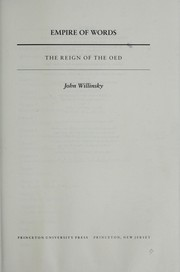 Cover of: Empire of words by John Willinsky