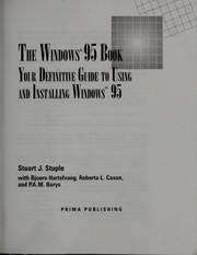 Cover of: The Windows 95 book by Stuart J. Stuple