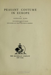 Cover of: Peasant costume in Europe by Kathleen Mann