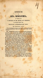 Speech of Mr. Mercer, in reply to a motion of Mr. Rivers, of Virginia, to strike from the military appropriation bill the following cause PDF