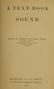 A text-book on sound PDF