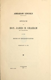 Cover of: Abraham Lincoln by Graham, James McMahon