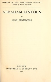 Cover of: Abraham Lincoln by Lord Charnwood
