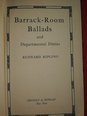 Cover of: Departmental Ditties and Barrack Room Ballads by