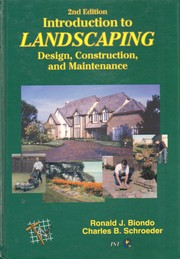 Cover of: Introduction to Landscaping by Ronald J. Biondo