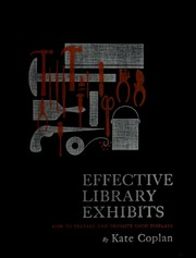 Effective library exhibits by Kate Coplan