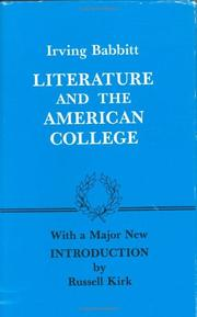 Literature and the American college by Irving Babbitt