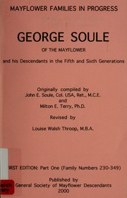 George Soule of the Mayflower and his descendants in the fifth and sixth generations PDF