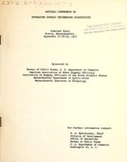 National Conference on Increasing Highway Engineering Productivity, Somerset Hotel, Boston, Massachusetts, September 17-18-19, 1957 PDF