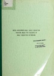 Needs assessment adult basic education PDF