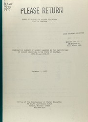 Comparative summary of degrees awarded by the institutions of higher education in the State of Montana, 1975-76 and 1976-77 PDF