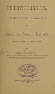 Pruritic rhinitis, (hay-fever, autumnal catarrh, etc.) PDF