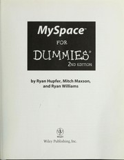 MySpace for dummies by Ryan Hupfer