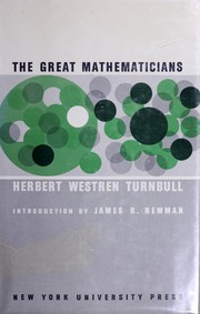 The great mathematicians by H. W. Turnbull