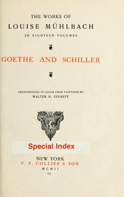 Goethe and Schiller by L. Mhlbach