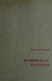 Cover of: Mathematical statistics | John E. Freund