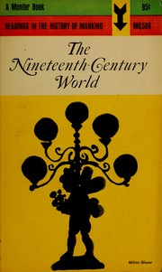 Cover of: The nineteenth-century world by Cahiers d'histoire mondiale