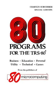 Cover of: 80 Programs for the TRS-80 (Special Edition) by Jim Perry, Chris Brown