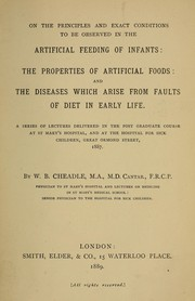 On the principles and exact conditions to be observed in the artificial feeding of infants PDF