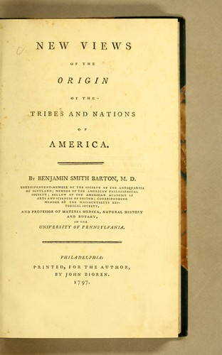 Download New views of the origin of the tribes and nations of America.