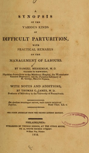 A synopsis of the various kinds of difficult parturition