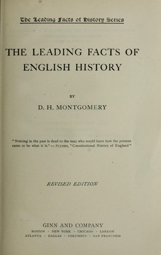 Download The leading facts of English history