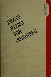 Death files for Congress PDF