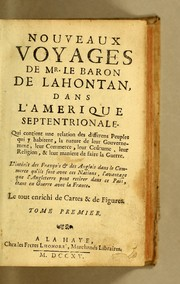 Nouveaux voyages de mr. le baron de Lahontan, dans l&#39;Amerique Septentrionale by Lahontan, Louis Armand de Lom d&#39;Arce baron de
