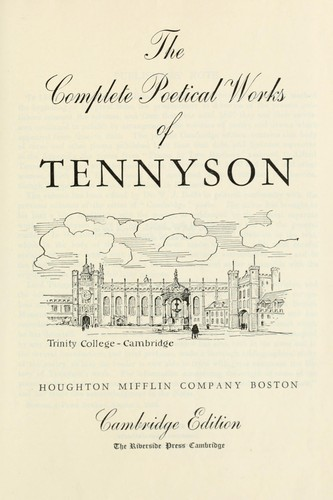 The complete poetical works of Tennyson.